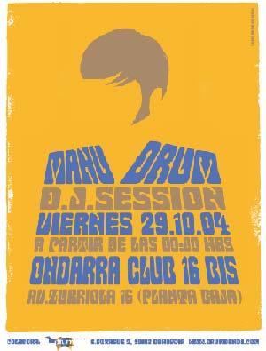29/10/2004. ONDARRA. - Donostia - Manu Drum se sale!